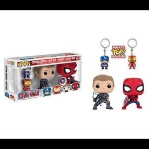 Funko Pop! Captain America Civil War 4-Pack